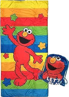 Jay Franco Sesame Street Lets Play Slumber Sack - Cozy & Warm Kids Lightweight Slumber Bag/Sleeping Bag - Featuring Elmo (Official Sesame Street Product)
