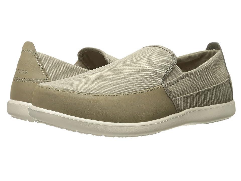 Crocs Santa Cruz Deluxe Slip-On (Khaki/Stucco) Men