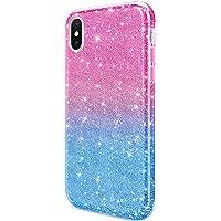 Daupin iPhone Xs Max Phone Case (Blue-Pink)