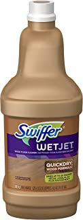 Swiffer WetJet Wood Floor Cleaner Solution Refill, Multi-purpose Blossom Breeze Scent Wet Jet Refills, 1.25 Liter (Pack of 6)