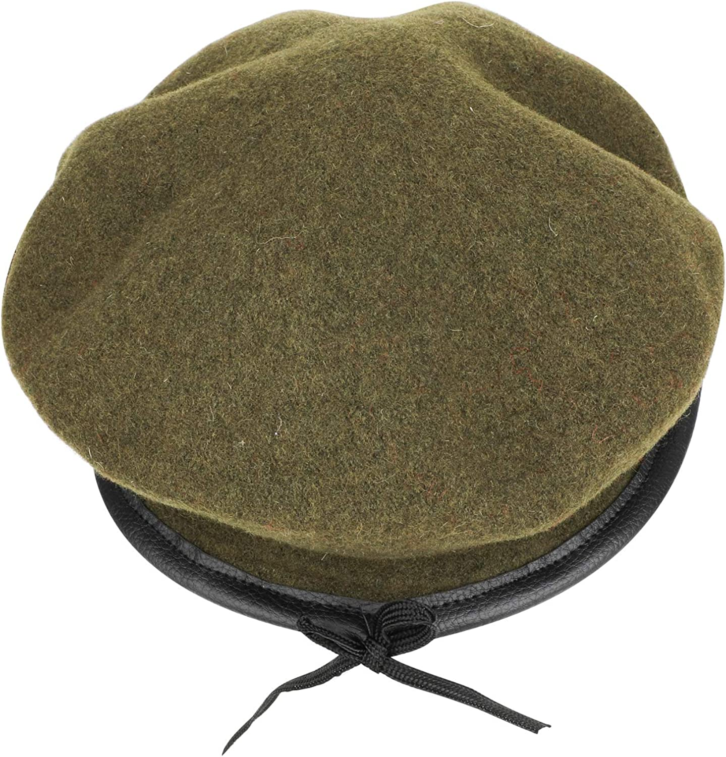 TAGVO Wool Berets One Size Fits Most Mens Ladies Girls Boys Military Army Style Berets with Leather Trim Adjustable