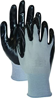 Magid T319T Hand Master Economy Nitrile Coated Palm Gloves, Large (Pack of 5)