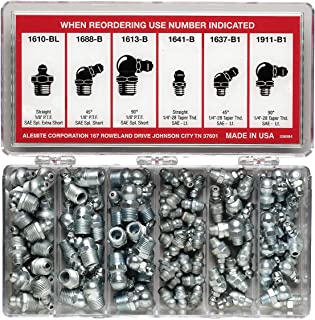 Alemite 2398-1 96 Piece Vehicle Fitting Assortment, Contains Six Types of Fittings