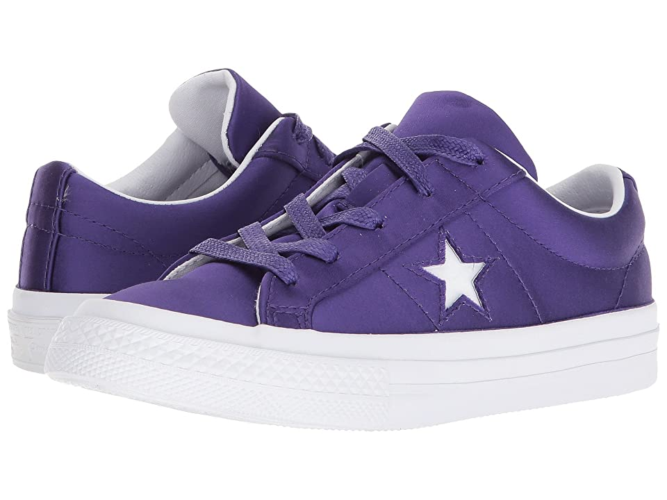 Converse Kids One Star Ox (Little Kid) (Court Purple/White/White) Girls Shoes