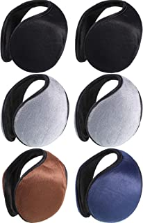 6 Pieces Winter Warm Earmuffs Plush Ear Warmer Outdoor Headwear Earmuffs for Women and Men