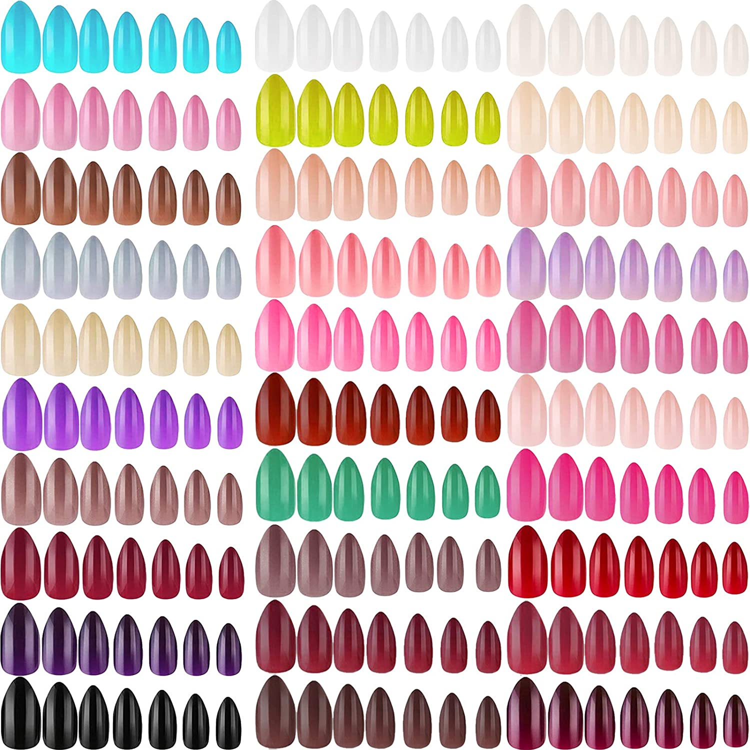 1440 Pieces 60 Sets Direct sale of manufacturer Short Stiletto Press Cover Nails on Full Alm Recommendation