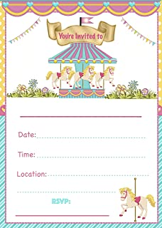 Best carousel baby shower invitations Reviews