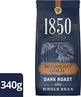 Folgers, 1850 Midnight Gold, Whole Bean Coffee, 340g/12oz., {Imported from Canada}
