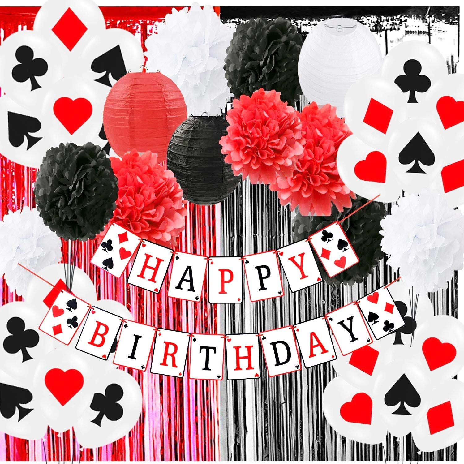 Party Supplies Kubert 2 Pieces Poker Birthday Party Tablecover ...