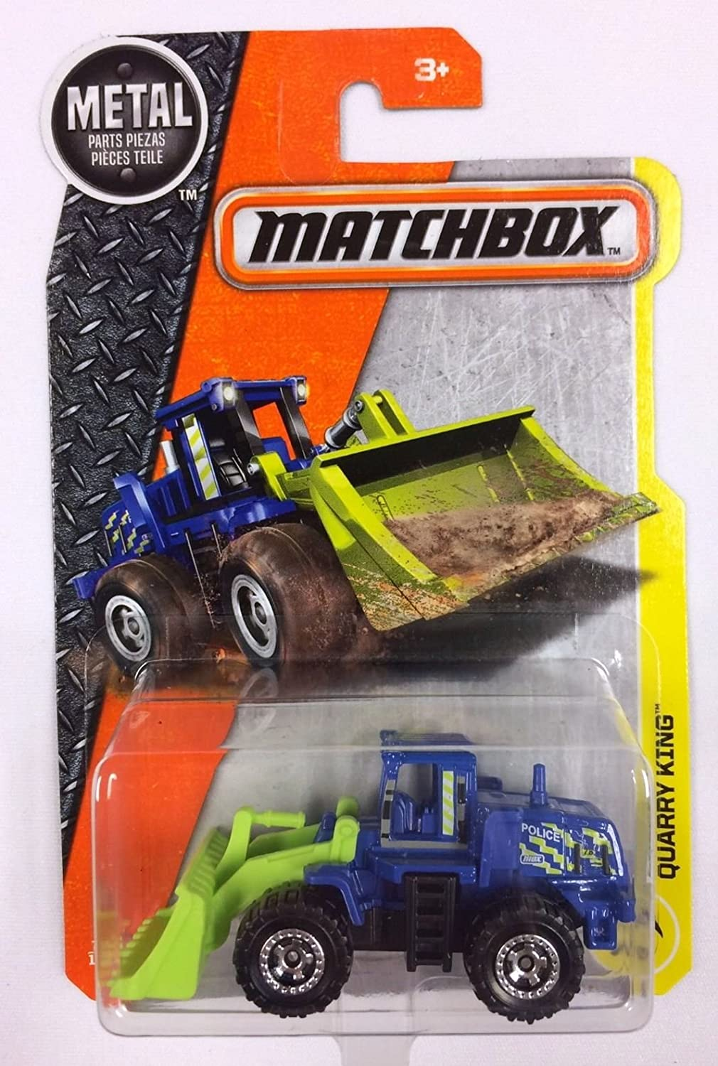 Matchbox 2017 MBX Construction Quarry King (Wheel Loader) 76 125, bluee