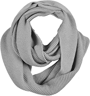 Men Scarf Knit Infinity Scarf Winter Soft Warm Scarves E5081b