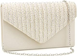 Evening Bag for Women, Glitter Rhinestone Wedding Evening Purse Crystal Envelope Crossbody Shoulder Clutch Bags