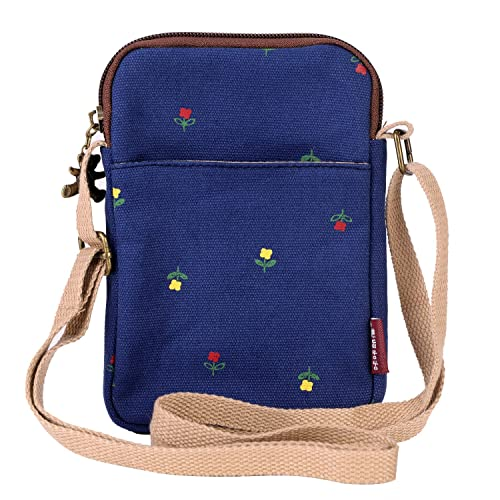 Cell Phone Bag Casual Satchel Pockets Money Organizer Cards Coin Holder Bag  Pouch Small Canvas Cross 0c9bf3ee31b85