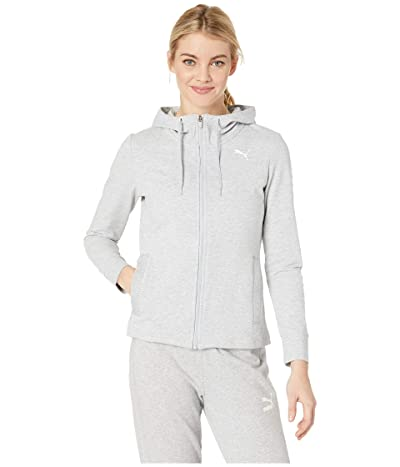 PUMA Modern Sports Hooded Jacket (Light Grey Heather) Women