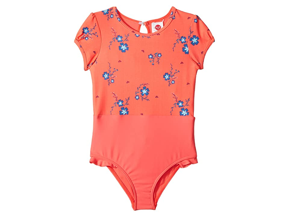 Roxy Kids Chill After Short Sleeve One-Piece Rashguard (Toddler/Little Kids) (Odalisca Swim Spaced Out Floral) Girl
