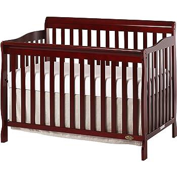 Dream On Me, Ashton 5-in-1 Convertible Crib, Cherry