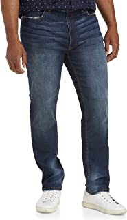 True Nation by DXL Big and Tall Taper Fit X-Stretch Jeans, Fall Indigo Blue