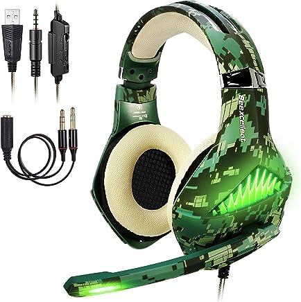 ShinePick Cuffie Gaming, Cuffie da Gioco con 3.5mm Jack LED e Microfono Insonorizzato,Bass Stereo Audio Surround Cuffie da Gaming per PS4 / Xbox One/Xbox One S/Nintendo Switch/PC/Laptop(Camo) - Trova i prezzi più bassi