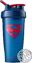 BlenderBottle C02923 Justice League Superhero Classic 28-Ounce Shaker Bottle, Superman Blue