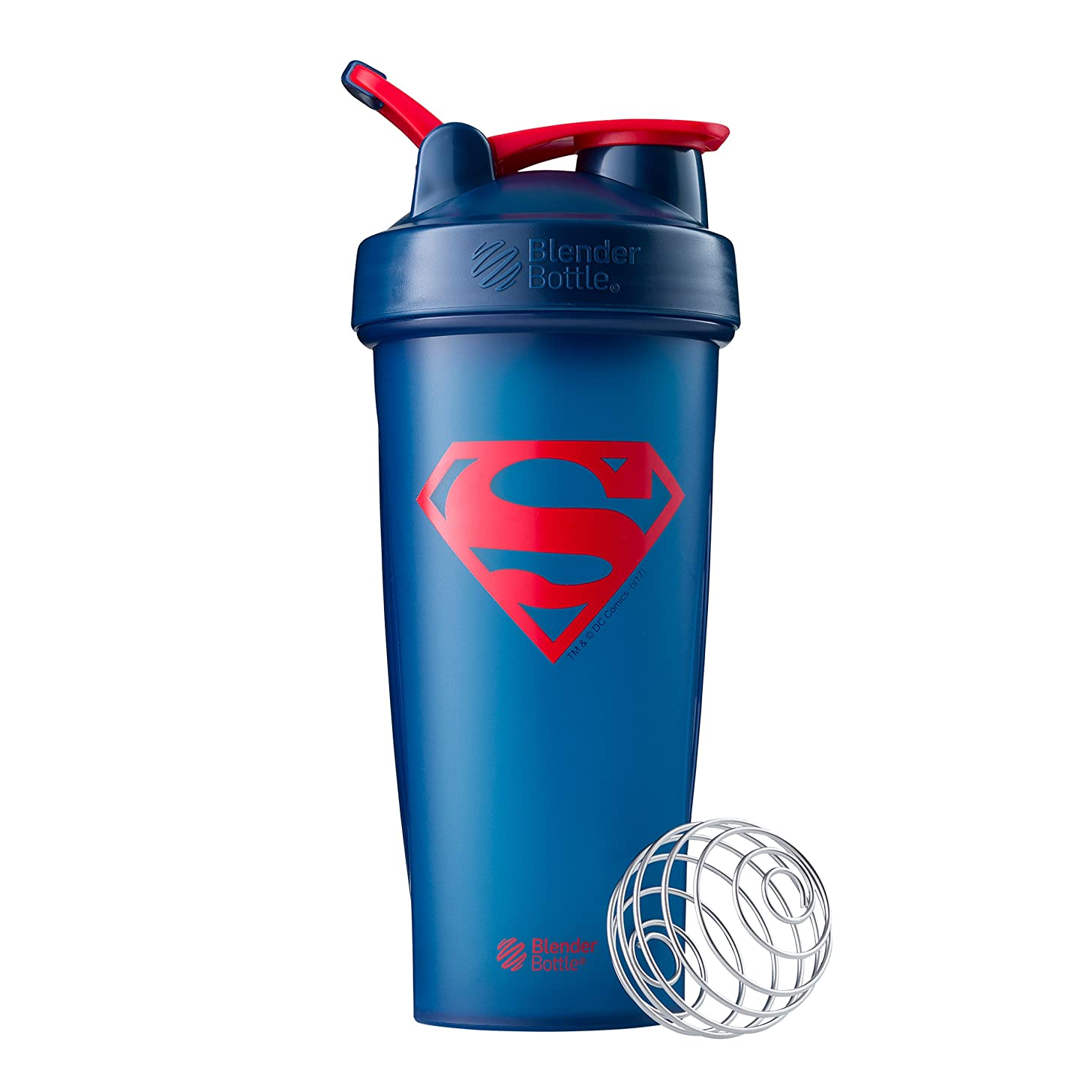 BlenderBottle Justice League Superhero Classic 28-Ounce Shaker Bottle, Superman
