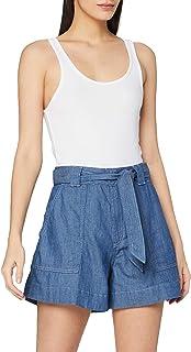 People Tree Denim Shorts Pantalones Informales para Mujer