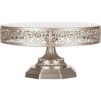 10//12 Inch Iron Round Cake Stand Pedestal Dessert Holder Wedding Party Decor