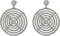 Gradual Pave Disc Drop Earrings