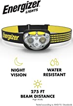 Energizer LED Headlamp Flashlight, 400 High Lumens, for Camping Accessories, Running, Hiking, Emergency Light, Survival Kit Head Lamp, Rechargeable Headlamp Option, Water-Resistant Headlight