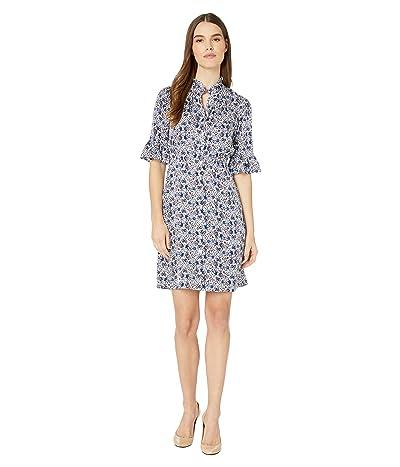 Rebecca Taylor Long Sleeve Twilight Dress (Snow Combo) Women