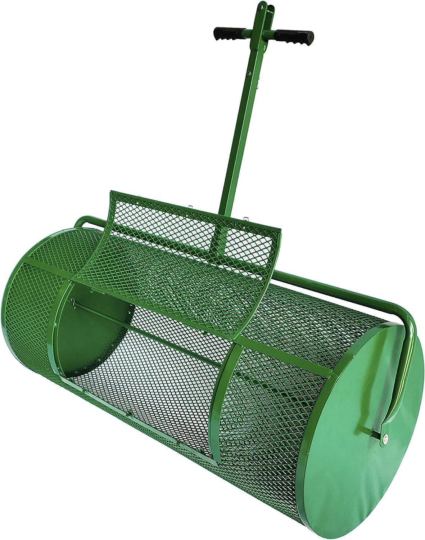 Landzie Lawn & Garden Spreaders - 44 Inch Metal Mesh Basket - Compost Spreader - Peat Moss Spreader for Garden and Lawn Care Durable Lightweight Lawn Care Equipment - Manure Spreader
