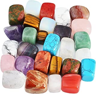 mookaitedecor 1lb Tumbled Stones Polished Crystals Healing, Reiki, Chakra & Wicca,Mixed Stones