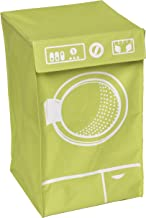 حقيبة سلة الغسيل 8704140 لتنظيم الملابس وغسالة الملابس مع غطاء علوي - من البوليستر والألياف الزجاجية