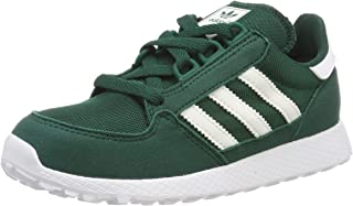 Adidas ORIGINALS Forest Grove C Collegiate Green Synthetic Suede Child Trainers Shoes