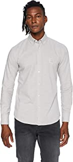 BOSS Hommes Mabsoot 1 Chemise Slim Fit en Coton Oxford à Patch Logo Jacquard