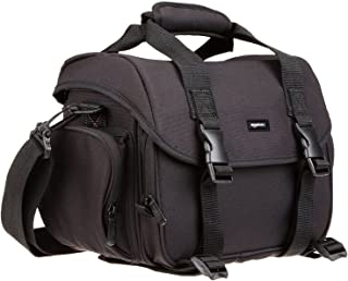 AmazonBasics Large DSLR Camera Gadget Bag - 11.5 x 6 x 8 Inches, Black And Grey