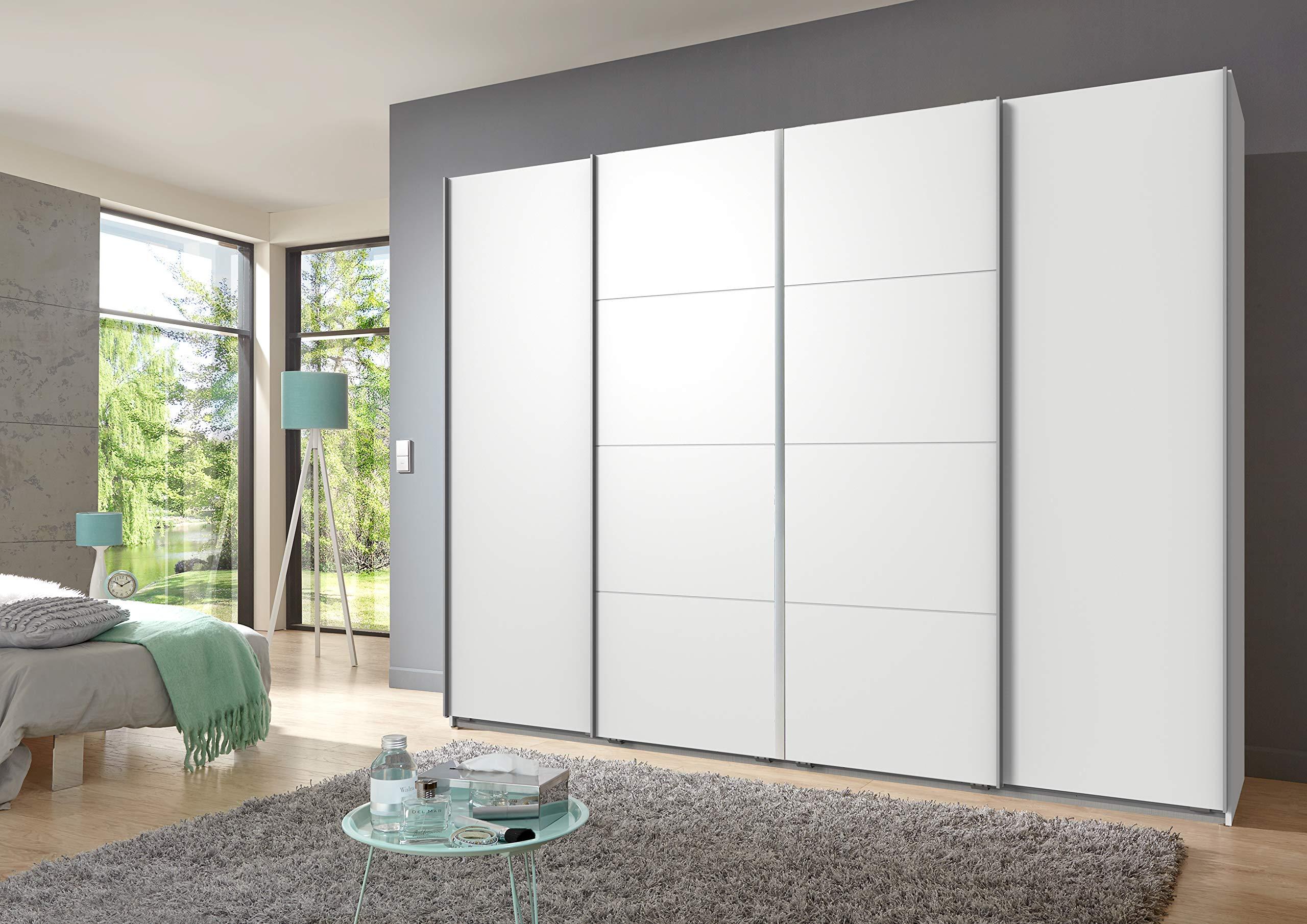 Wimex bruessel Armario de Puertas correderas, Color Blanco, 65 x 270 x 210 cm: Amazon.es: Hogar