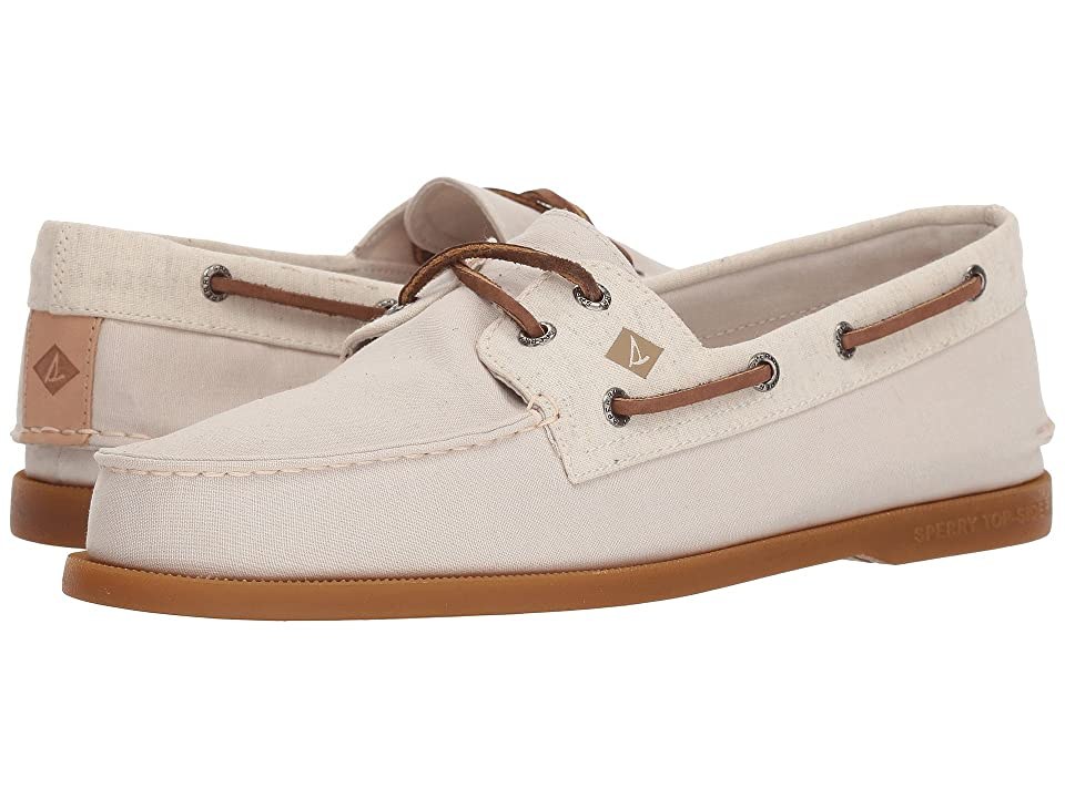 Sperry A/O 2-Eye Chambray (Stone/White) Men