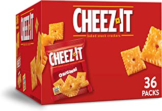 Cheez-It Original Cheese Crackers - School Lunch Food, Baked Snack, Single Serve, 36 Count (1.5 Ounce each), 54 Oz
