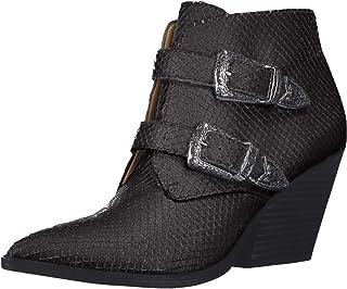 حذاء حريمي من Franco Sarto ذو رقبة على شكل ثعبان أسود، 5. 5 M US