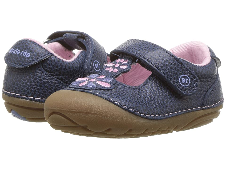 Stride Rite Kelly (Infant/Toddler) (Navy Leather) Girls Shoes