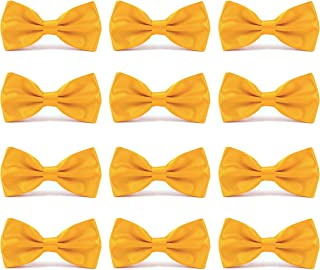 blue shirt yellow bow tie