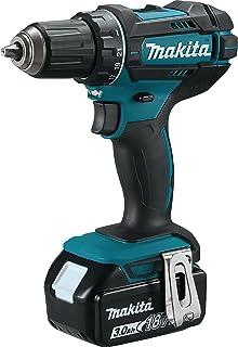 Makita DDF482RFJ Cordless Drill 18 V / 3.0 Ah, 2 Batteries + Charger in Makpac, Black, Blue
