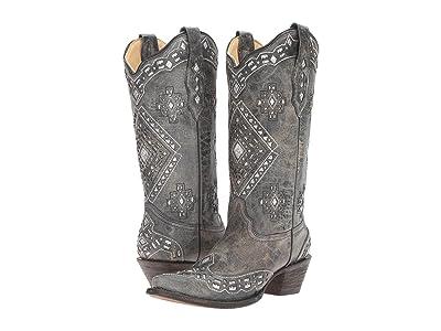 Corral Boots A2963 (Black/Silver) Women