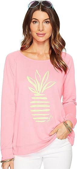 Tiki Pink Stripe Pineapple Large