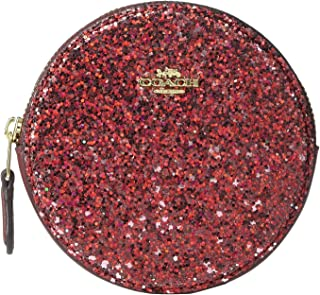 Round Coin Case Red/Gold One Size