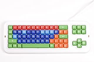 Clevy Keyboard - Lower Case Large Print Letters and Keys, Colorful and Very Sturdy