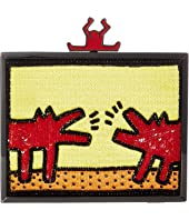 Alice + Olivia - Keith Haring X Alice + Olivia Abbey Embellished Clutch