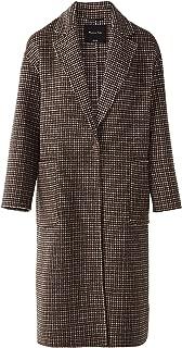 Massimo Dutti Women Handmade Wool Check Coat 6441/530