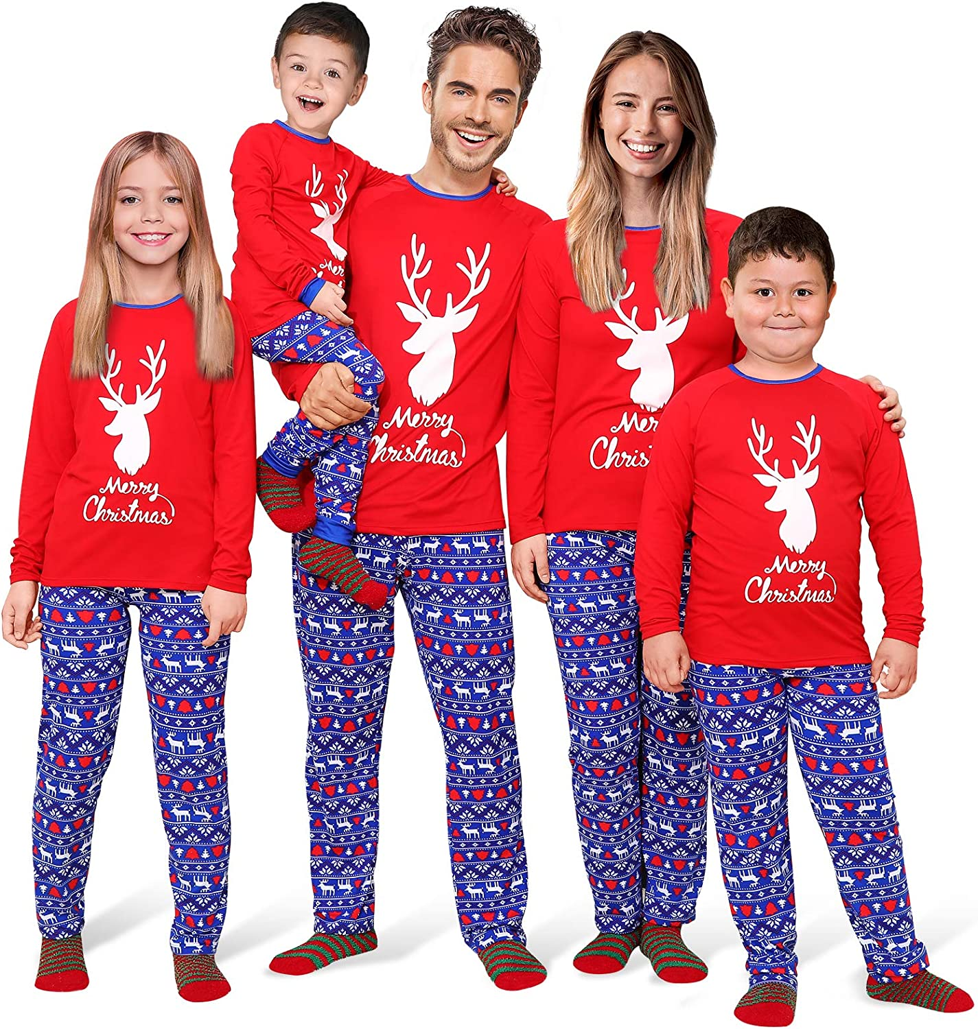 Rnxrbb Limited time sale Max 48% OFF Christmas Family Pajamas Matching Pjs for Sets
