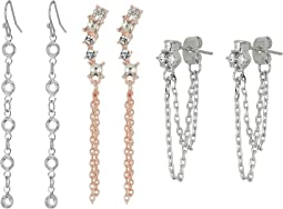 GUESS - 9-Pair Mixed Studs and Mini Drops Earrings